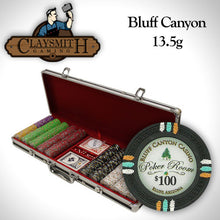 500 Claysmith Bluff Canyon 13.5 Gram Poker Chips Set with Black Aluminum Case - The Poker Store .Com