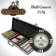 Card Guard - 500 Claysmith Bluff Canyon 13.5 Gram Poker Chips Set With Aluminum Case