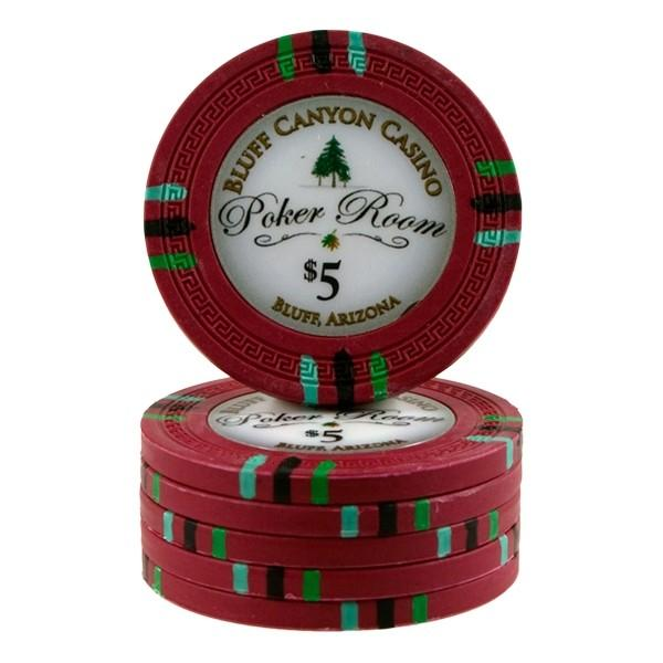Card Guard - 500 Claysmith Bluff Canyon 13.5 Gram Poker Chips Set With Black Aluminum Case