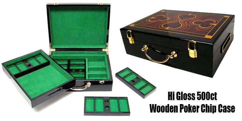 Card Guard - 500 Claysmith Bluff Canyon 13.5 Gram Poker Chips Set With Hi Gloss Humidor Case