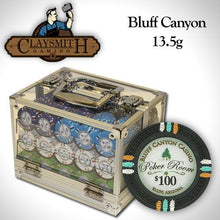Card Guard - 600 Claysmith Bluff Canyon 13.5 Gram Poker Chips Set With Acrylic Carrier Case