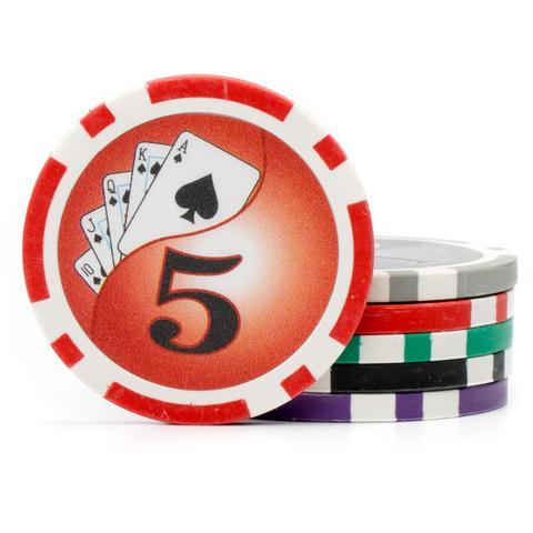 Card Guard - 600 Yin Yang 13.5 Gram Poker Chips Acrylic Carrier Set