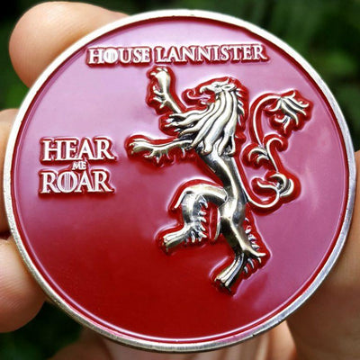 Card Guard - Game Of Thrones House Lannister Poker Card Guard Hand Protector