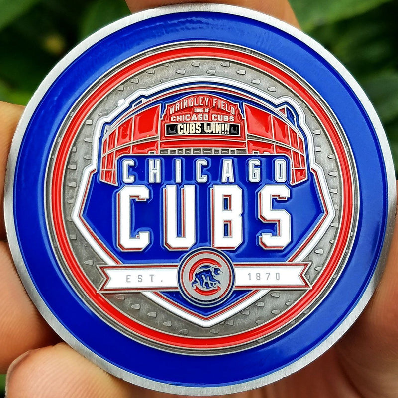 Card Guard - MLB Chicago Cubs Wrigley Field Poker Card Guard Protector PREMIUM