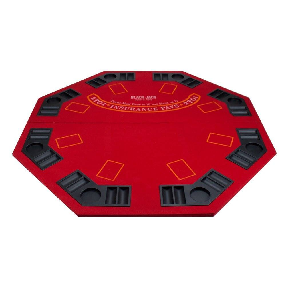 Card Guard   Red Octagon Poker U0026 Blackjack 2 In 1 Folding Table Top