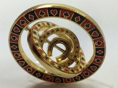 Card Guard - Triple Spinner Horseshoe