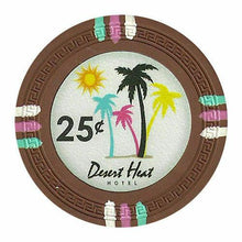Chips - $0.25 Cent Brown Claysmith Desert Heat 13.5 Gram - 100 Poker Chips