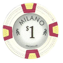 Chips - $1 One Dollar Milano 10 Gram Pure Clay - 100 Poker Chips