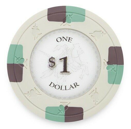 Chips - $1 One Dollar Poker Knights 13.5 Gram - 100 Poker Chips