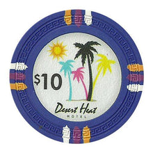 Chips - $10 Blue Claysmith Desert Heat 13.5 Gram - 100 Poker Chips