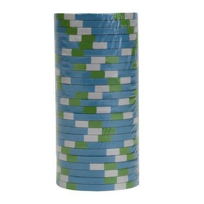 Chips - $10 Blue Monaco Club 13.5 Gram - 100 Poker Chips