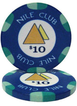 Chips - $10 Blue Nile Club 10 Gram Ceramic - 100 Poker Chips