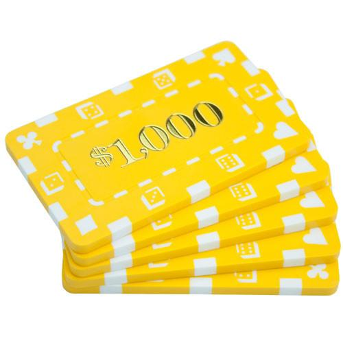 Chips - 10 Denominated Square Chips 32 Gram Rectangular Plaques