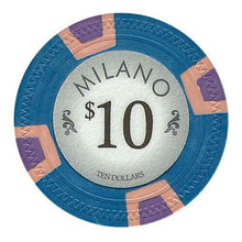 Chips - $10 Ten Dollar Milano 10 Gram Pure Clay - 100 Poker Chips