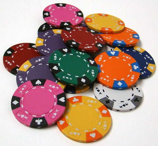 Chips - 100 Ace King Suited 14 Gram Poker Chips Bulk