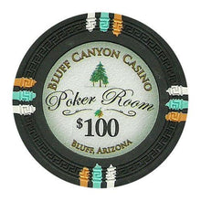 Chips - $100 Black Claysmith Bluff Canyon 13.5 Gram - 100 Poker Chips