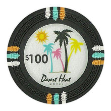Chips - $100 Black Claysmith Desert Heat 13.5 Gram - 100 Poker Chips