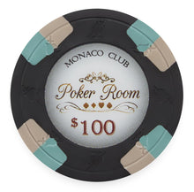 Chips - $100 Black Monaco Club 13.5 Gram - 100 Poker Chips