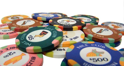 Chips - $100 Black Nile Club 10 Gram Ceramic - 100 Poker Chips