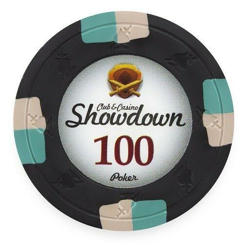 Chips - $100 Black Showdown Casino 13.5 Gram - 100 Poker Chips