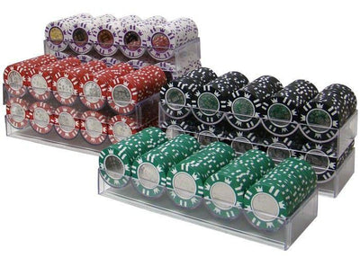Chips - 100 Coin Inlay 15 Gram Poker Chips Bulk