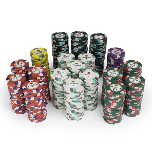 Chips - 100 Showdown Casino 13.5 Gram Poker Chips Bulk