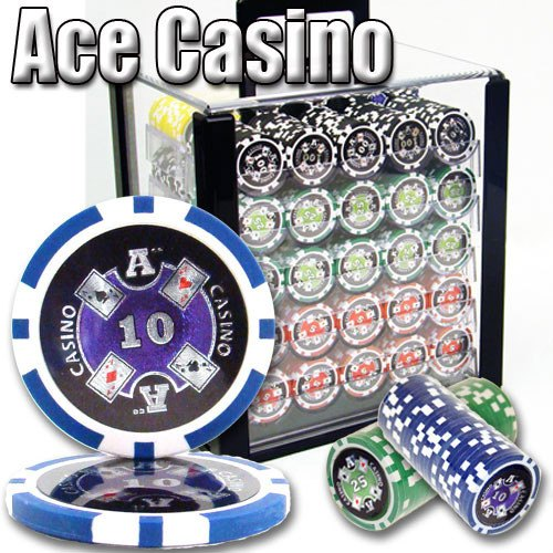 Chips - 1000 Ace Casino 14 Gram Chips Acrylic Case Set