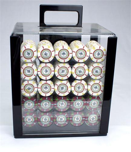 Chips - 1000 Claysmith The Mint 13.5 Gram Poker Chips Set With Acrylic Carrier Case