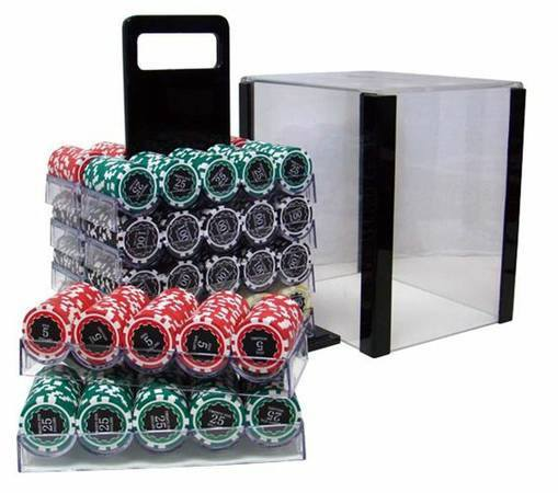 Chips - 1000 Eclipse 14 Gram Poker Chips Set With Acrylic Carrier Case