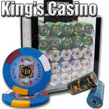 Chips - 1000 King's Casino 14 Gram Pro Clay Poker Chips Set With Acrylic Carrier Case