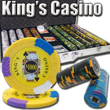 Chips - 1000 King's Casino 14 Gram Pro Clay Poker Chips Set With Aluminum Case