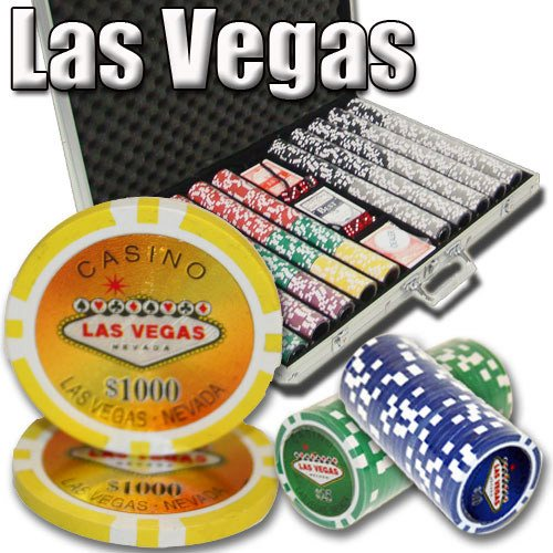 Chips - 1000 Las Vegas 14 Gram Poker Chips Set With Aluminum Case