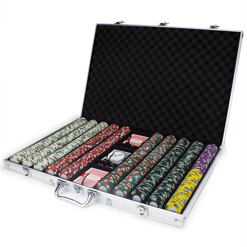 Chips - 1000 Monaco Club 13.5 Gram Poker Chips Set With Aluminum Case