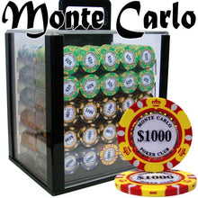 Chips - 1000 Monte Carlo 14 Gram Poker Chips Set With Acrylic Carrier Case