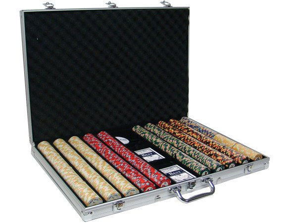 Chips - 1000 Nile Club 10 Gram Ceramic Poker Chips With Aluminum Case