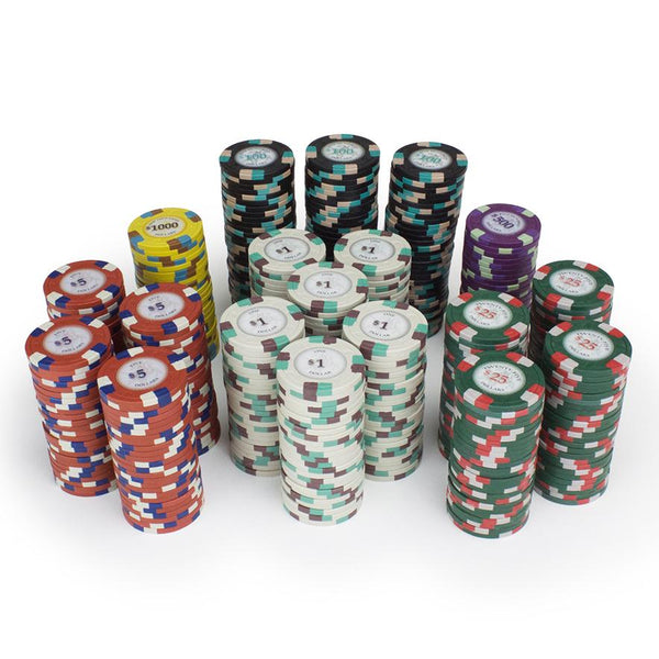 Chips - 1000 Poker Knights 13.5 Gram Poker Chips With Aluminum Case
