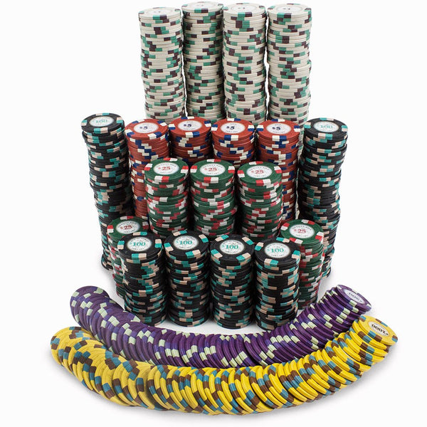 Chips - 1000 Royal Poker Knights 13.5 Gram Poker Chips With Aluminum Case