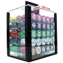 Chips - 1000 Scroll 10 Gram Ceramic Poker Chips Set With Acrylic Carrier Case