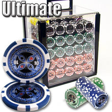 Chips - 1000 Ultimate 14 Gram Poker Chips Set With Acrylic Carrier Case
