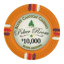 Chips - $10000 Orange Claysmith Bluff Canyon 13.5 Gram - 100 Poker Chips