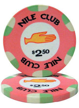 Chips - $2.50 Pink Nile Club 10 Gram Ceramic - 100 Poker Chips