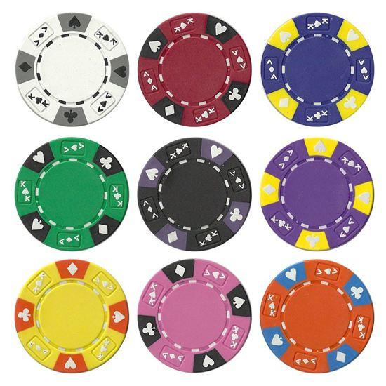 Chips - 200 Ace King Suited 14 Gram Poker Chips Bulk