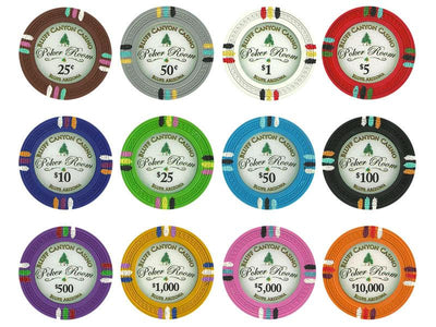 Chips - $25 Green Claysmith Bluff Canyon 13.5 Gram - 100 Poker Chips