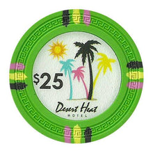 Chips - $25 Green Claysmith Desert Heat 13.5 Gram - 100 Poker Chips
