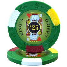 Chips - $25 Green Kings Casino 14 Gram Pro Clay - 100 Poker Chips