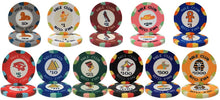 Chips - 25 Nile Club 10 Gram Ceramic Poker Chips (1 Roll)