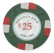 Chips - $25 Twenty Five Dollar Poker Knights 13.5 Gram - 100 Poker Chips