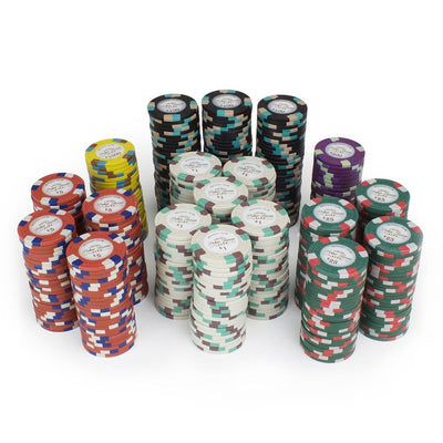 Chips - $25000 Brown Monaco Club 13.5 Gram - 100 Poker Chips