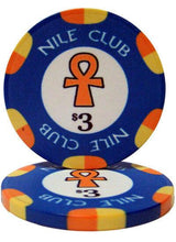 Chips - $3 Blue Nile Club 10 Gram Ceramic - 100 Poker Chips