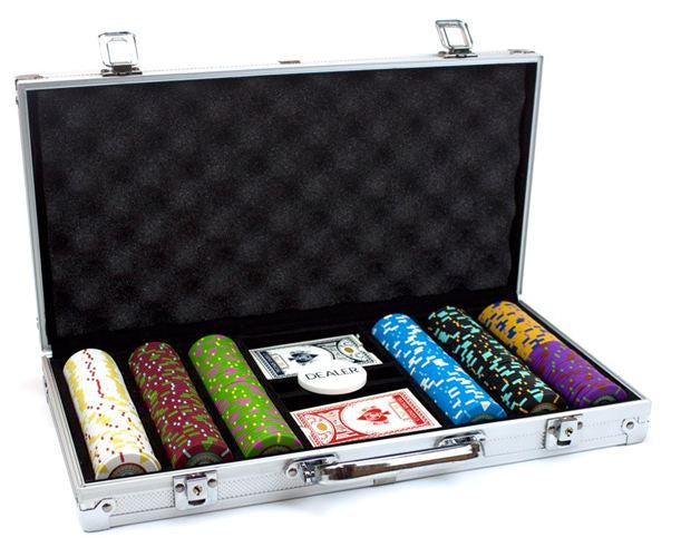 300 Claysmith The Mint 13.5 Gram Poker Chips Set with Aluminum Case - The Poker Store .Com